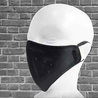 BLACK LEATHER FACE MASK MOTORCYCLE BIKE from JAPAN