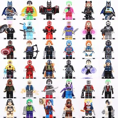 Dc Comics & Avengers Marvel Superheroes Custom LEGO Mini Figures Building Toy