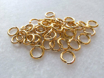 100 x Heavy Gauge Open Gold / Silver Plated Jump Rings (6mm, 7mm or 8mm)