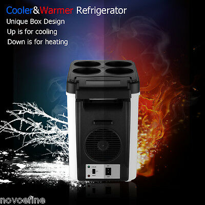 6L Portable 12V Cool Box Car Cooler Warmer Electric Fridge Travel Refrigerater