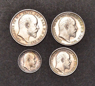 1904 Maundy Set Edward Vii  •908