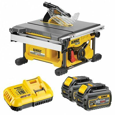 DeWalt DCS7485T2-GB 54v XR FLEXVOLT 2 x 6.0Ah 210mm Table Saw Kit