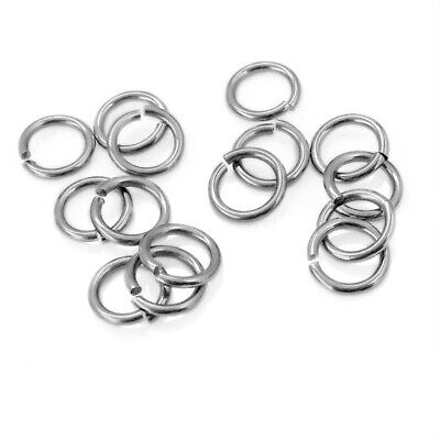 200 x Stainless Steel Flush Cut 19G Jump Rings - 1mm WD, 7mm or 8mm OD
