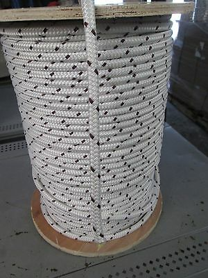 "3/8"" X 150' CABLEMAX DOUBLE BRAID POLYESTER/KEVLAR CABLE PULLING ROPE9100Lb USA"