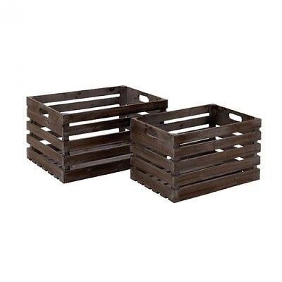 Wood Wine Crate (Set of 2). Brand New