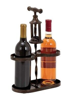 Woodland Import 93738 Metal Wine Holder with Traditional Cork-Opener Accent. Hug