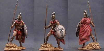 Tin toy soldiers ELITE painted 54 mm Spartan Greek Commander with Spear