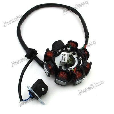 8 Coil Pole AC Ignition Stator Magneto For GY6 50cc Go Kart Scooter Moped ATV