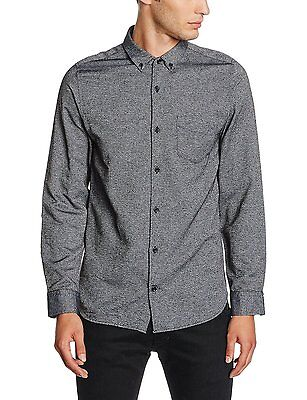JACK & JONES Long Sleeve Shirt New Mens Slim Fit Plain Casual Smart Bail Shirts