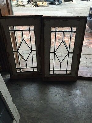 Sg 827 Two Available Price Separate Antique All Beveled Glass Window