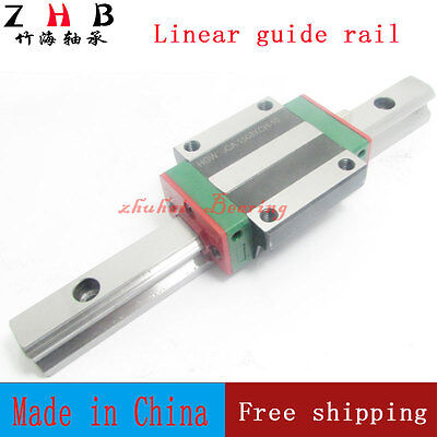 2pcs linear rail HGR20 L1500mm cnc part and 4pcs HGW20CA linear guide rail block