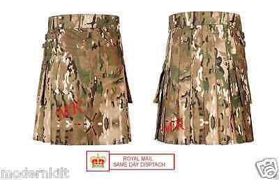 Scottish Men Tactical army kilts Camouflage Combat Military Ripsto Utility Kilt