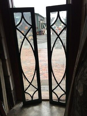 Sg 804 2 Available Price Separate Antique All Beveled Glass Window