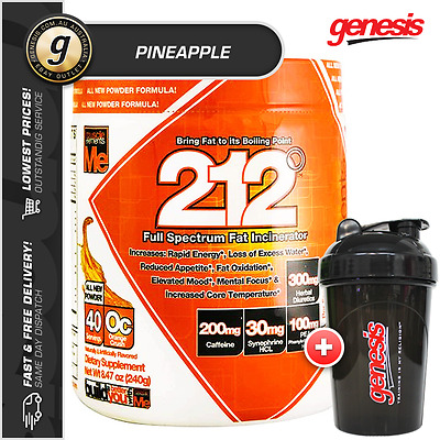Muscle Elements 212 FAT BURNER *40 Serves - PINEAPPLE* + FREE Gift!