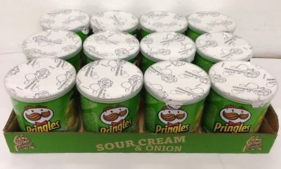 PRINGLES SOUR CREAM 40gm TUBS FULL TRAY OF 12 Pots