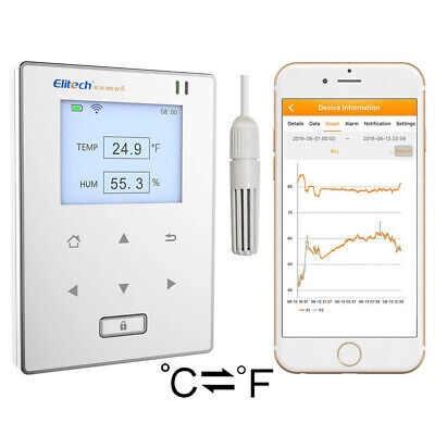 Elitech RCW-800 Wifi Temperature and Humidity Data Logger Intelligent Monitor