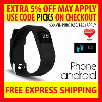 Tw64S Heart Rate Activity Fitness Tracker Wristband Fitbit Watch Iphone Android