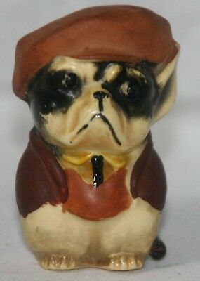 Tape Measure DOG w/ SHIRT HAT & JACKET, ORIGINAL c1920 ANTIQUE made in GERMANY