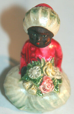 EXTREMELY RARE! Antique FIGURAL,CELLULOID,~TURBANED GIRLw/ flowers TAPE MEASURE