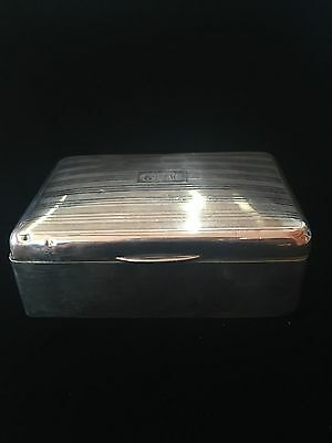 British 1945 Birmingham Sterling Cigarette Box