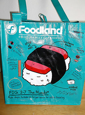 Hawaiian  Hawaii  Foodland Musubi Reusable Shopping Bag / Beach Bag / Beach Tote