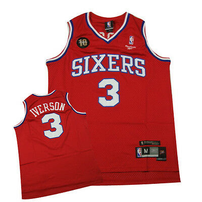 #3 Allen Iverson Philadelphia 76ers anniversary NBA jersey Mens sizes brand new!