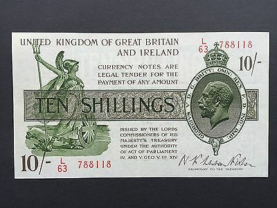 Great Britain Ireland Treasury 10 Shillings 10/- T30 1922 Warren Fisher L/63 EF