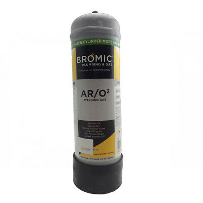 Bromic Stainshield 98% argon 2% oxygen Disposable 2.2L - TIG - Stainless Steel
