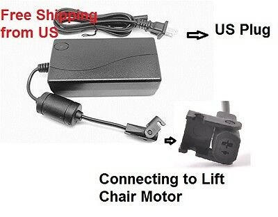NEW AC Adapter For Limoss Lift Chair Class 2 Power Supply Cord Battery Charger
