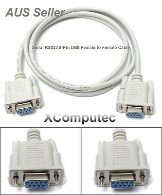 1.5M Serial RS232 9-Pin Female To Female DB9 F-F PC Converter Extension Cable