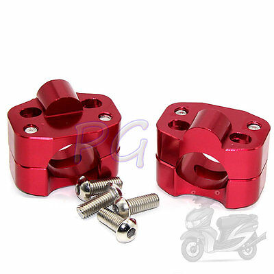"Red CNC Taper Handle Bar Clamps Taper 7/8"" to 1 1/8"" handlebar Pit Bike Motor"