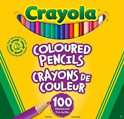 Crayola 100 Coloured Pencils (67-6100) (Drawing & Painting Supplies) Pencils CXX
