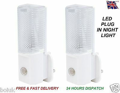 Automatic LED PLUG IN NIGHT LIGHT - LOW ENERGY - Baby Safety Night Light - NL101