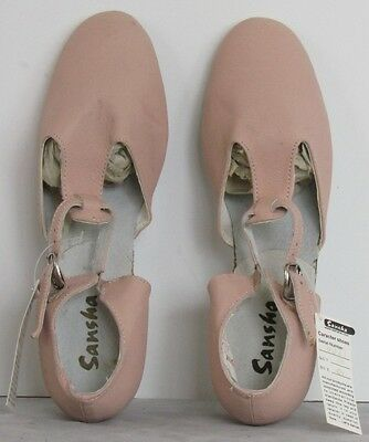 NEW $34 SANSHA Pink LEATHER Character Shoes PRIMA LEA Sz 10 M Dance Wear