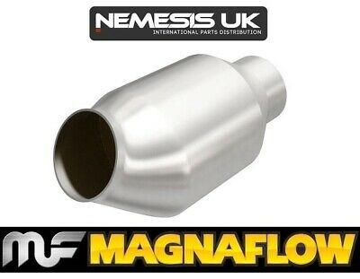 "2.25"" 57mm 200 Cell CPSI Magnaflow Angled/Centre Universal High Flow Sports Cat"