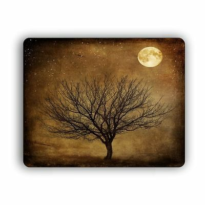 Computer Mouse Pad Tree At Night Desktop PC Mousepad