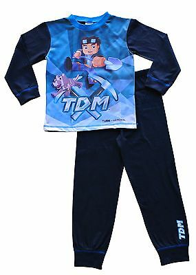 Dan TDM You Tube Heroes pyjamas The Diamond Minecart Pajamas 7 to 13 Years