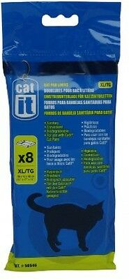 Catit Cat Pan Litter Tray Biodegradable Liner Extra Large Pack Of 8