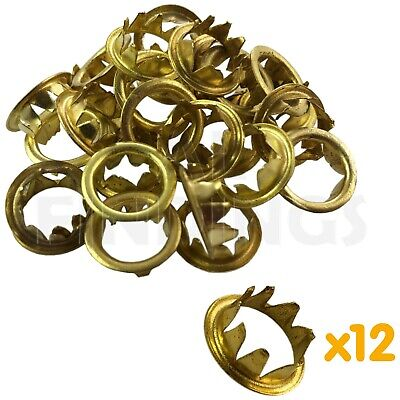 New Grommets Clock Key Hole Dial Brass Finish 10mm Antique clock repair x 12