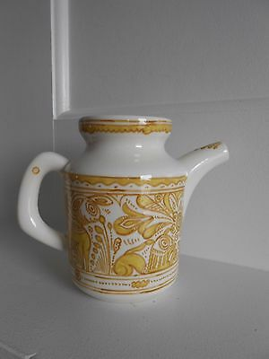 FELIX TISSOT FANTASIA Yellow Abstract Modernist Coffee Pot Taxco Mexico