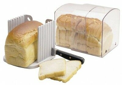 Kitchen Craft Expanding Stay Fresh Acrylic Bread Keeper With Free Slicing Guide