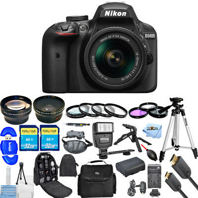 Nikon D3400 DSLR Camera with 18-55mm Lens (Black) MEGA BUNDLE BRAND NEW