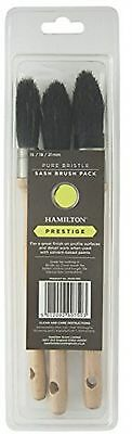 Prestige Pure Bristle Sash Brush Rust Resistant 21mm Pack Of 3 | FAST DELIVERY