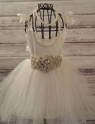 Girls vintage boho birthday party Wedding Flower girl Dress Lace baptism vintage