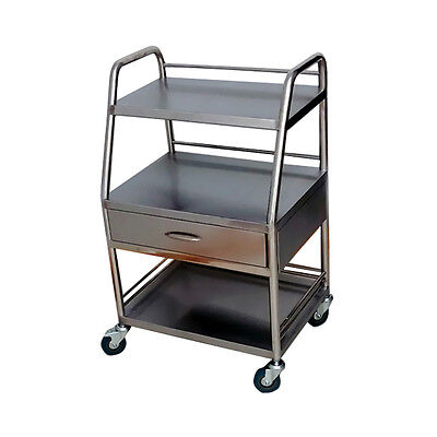 Top New Portable Three Layer With One Drawer Serving Medical Dental Cart Trolley