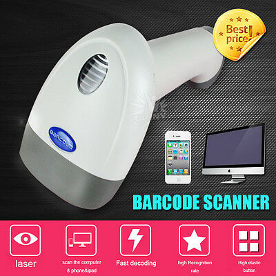 2M Cable USB Port Laser Barcode Scanner Reader Decoder for Computer Phone Pad