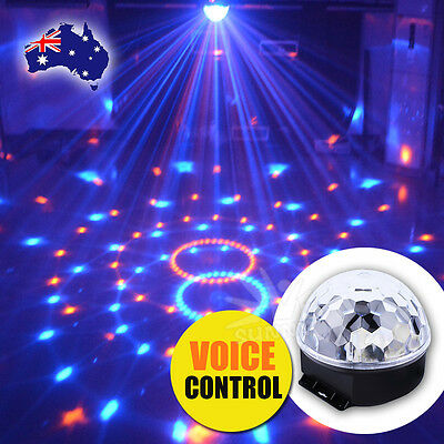 RGB Effect DJ Light LED Stage Lighting Laser Crystal Magic Ball Disco Party