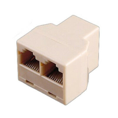RJ45 3 Way Network Cable Splitter Extender Plug Coupler 916S8