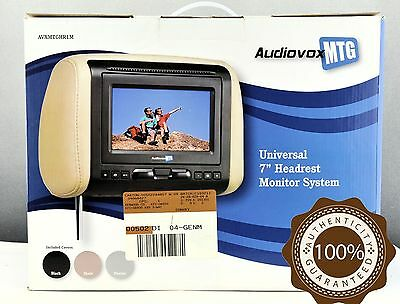"Brand New Audiovox Universal 7"" Headrest LED Monitor System Included 3 Colors"