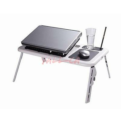 """New Durable Folding Portable Laptop Desk Table Stand for 14"""" Below Notebook CA"""